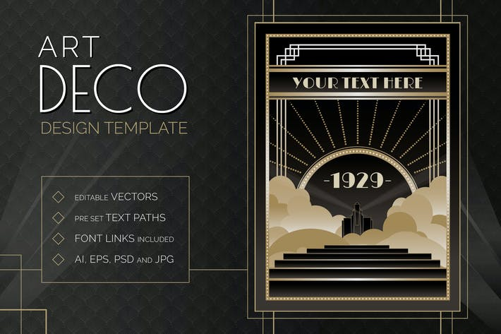 Thumbnail for Art Deco Design Template