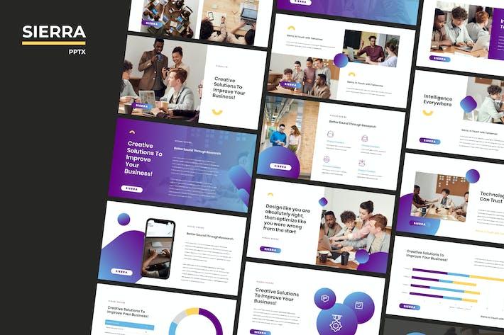 Cover Image For Sierra - Moderne Powerpoint-Vorlage