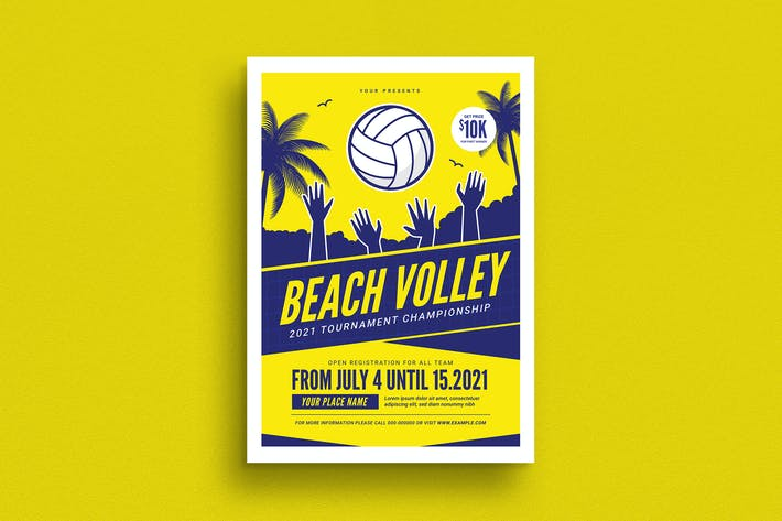 Thumbnail for Beach Volleyball Tournament Flyer