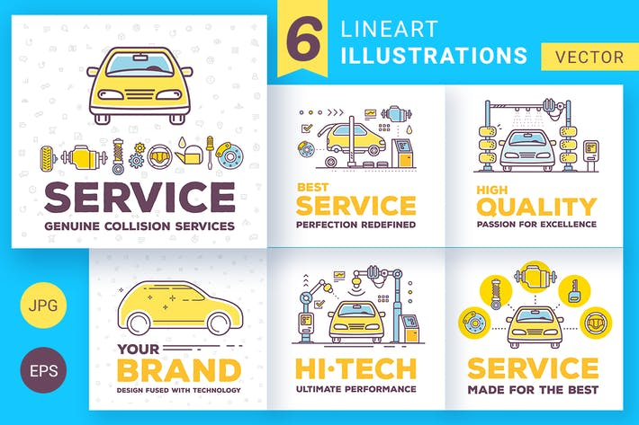 Thumbnail for Car service illustrations