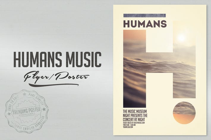 Thumbnail for Humans Music Flyer Poster