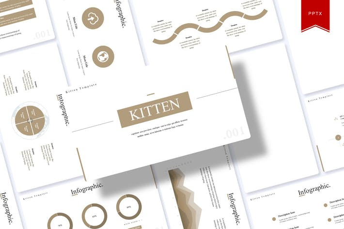 Thumbnail for Kitten | Powerpoint Template