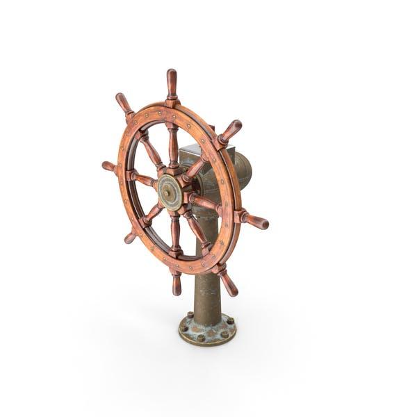 Large Vintage Ship Wheel
