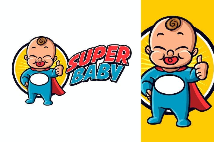 Thumbnail for Cartoon Superhero Cute Friendly Baby Mascot Logo