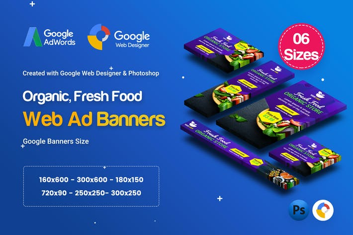 Thumbnail for C48 - Organic, Fresh Food Banners GWD & PSD
