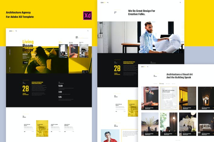Thumbnail for ChiAr-Architecture for Adobe XD Template