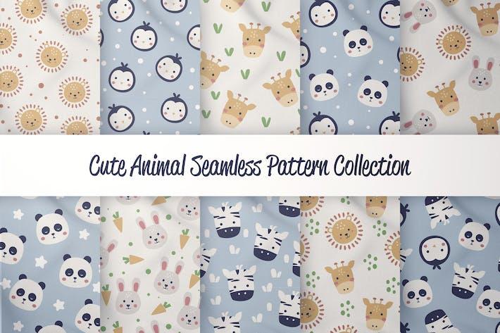 Cute Animals - Seamless Pattern