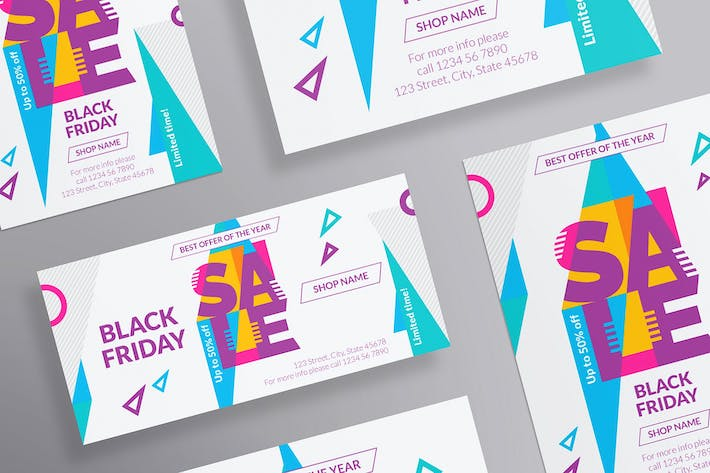 Thumbnail for Black Friday Sale Flyer and Poster Template