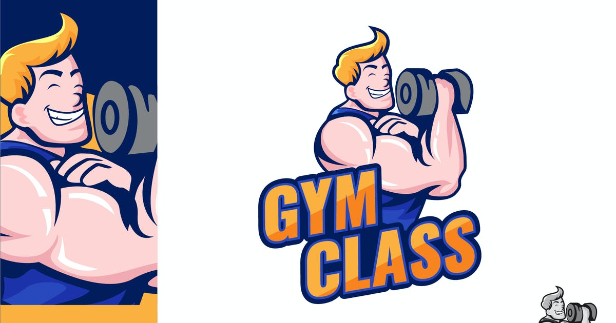 Download Gym Class Logo Illustration Vector by naulicrea