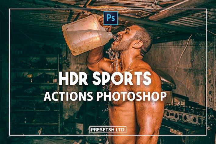 Спортивные действия Photoshop