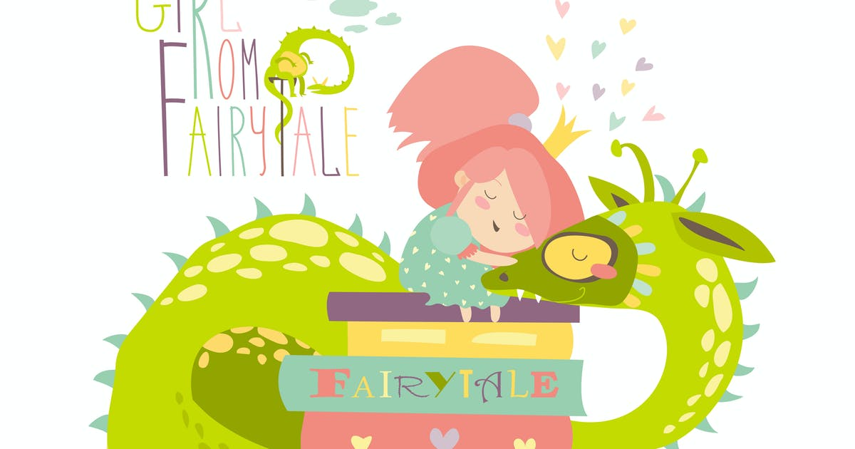 Download Cute princess sitting on pile of books by masastarus