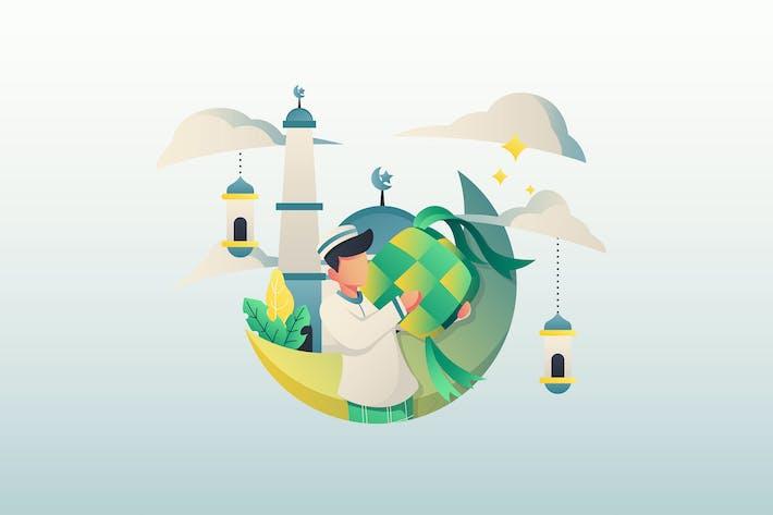 Eid Mubarak - Illustration GR