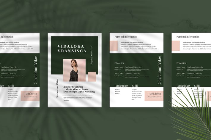 Thumbnail for Minimalist CV Resume Vol 25