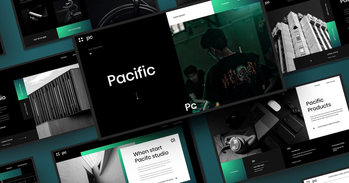 Pacific – Business PowerPoint Template by DensCreativeStudio