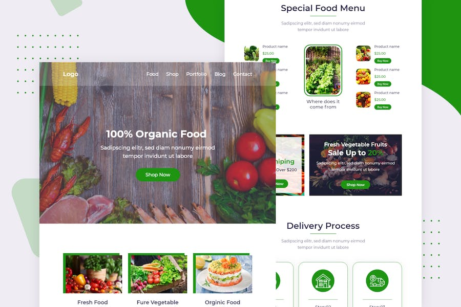 Organic Food - Email Newsletter