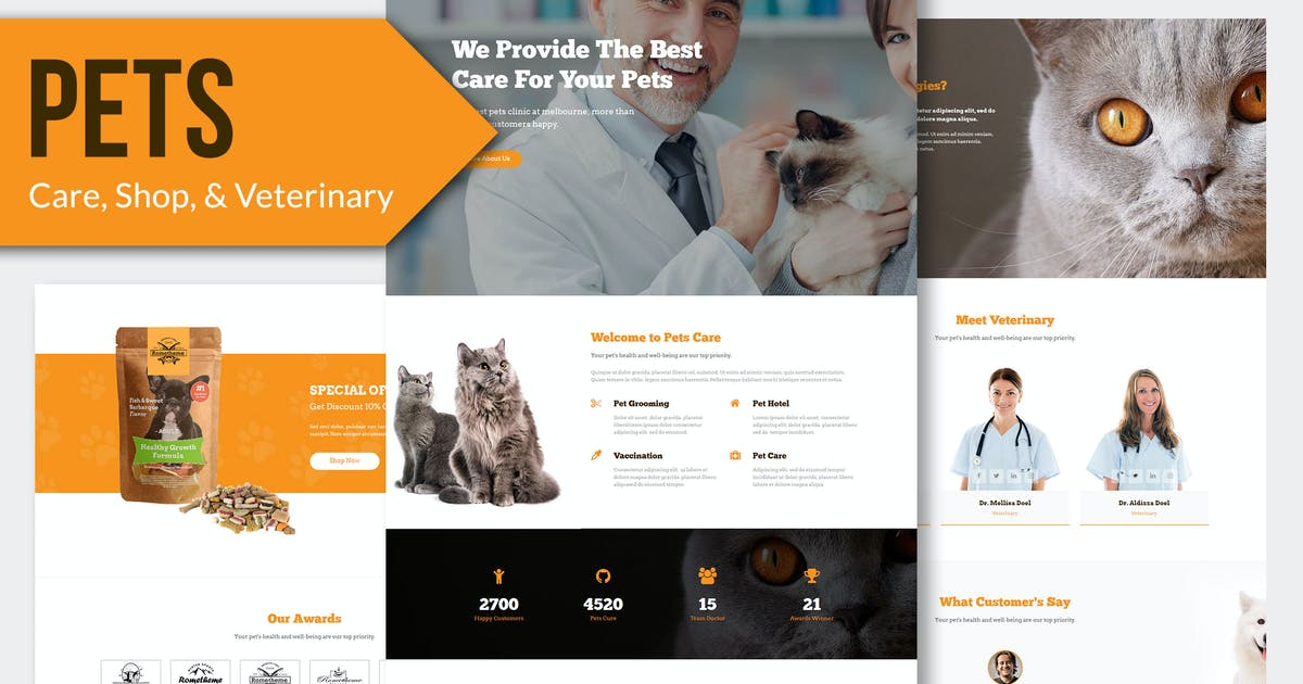 Download PETS - Pet Care, Shop Muse Template YR by Rometheme