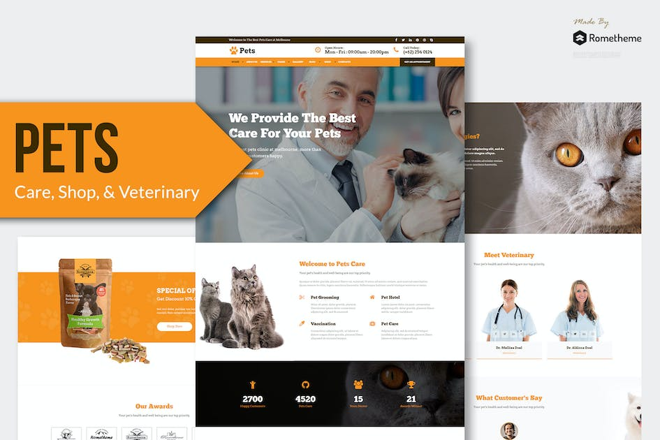 Download PETS - Pet Care, Shop, and Veterinary Muse Templat by Rometheme