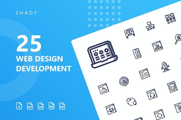 Thumbnail for Разработка веб-дизайна Теневые Иконки