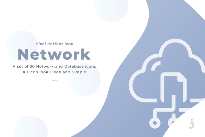 Thumbnail for 30 Network and Database icons
