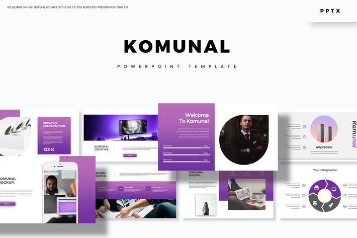 Cover Image For Komunal - Powerpoint Template