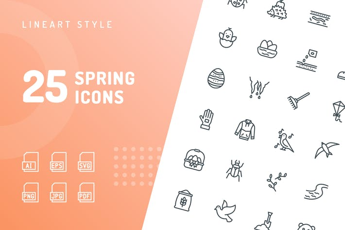 Spring Line Icons