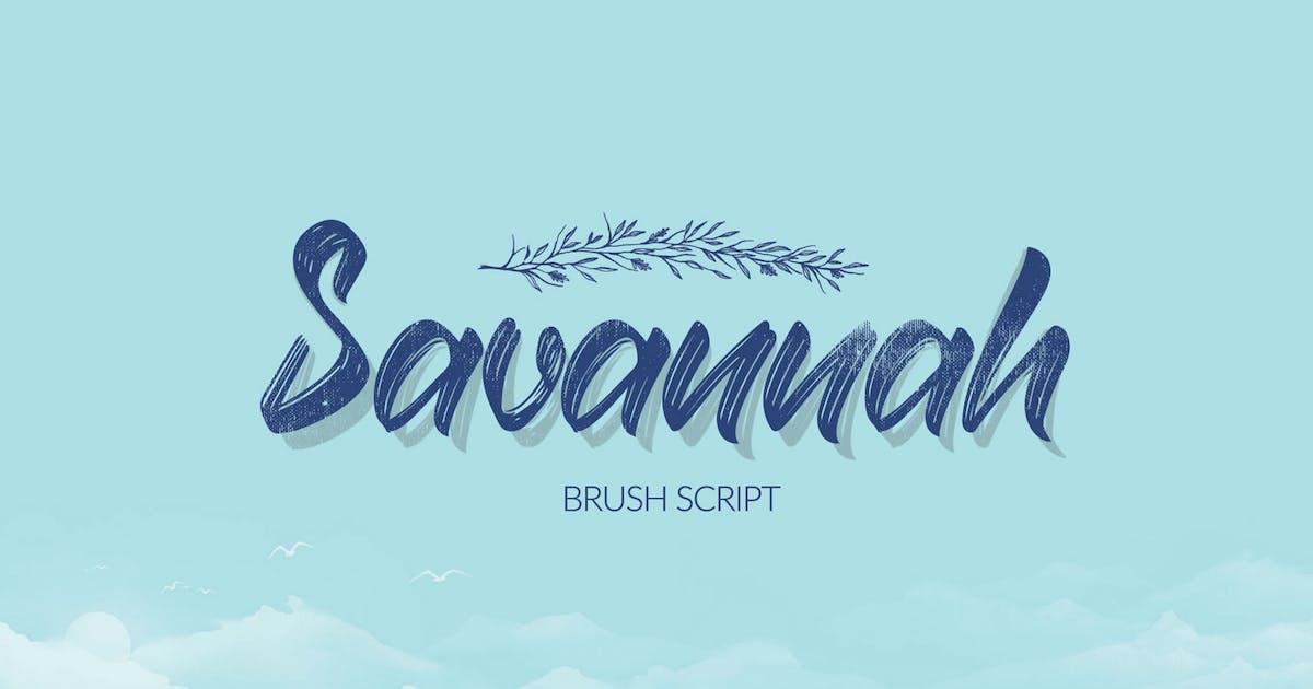 Download Savannah Brush Script Font by DesignSomething