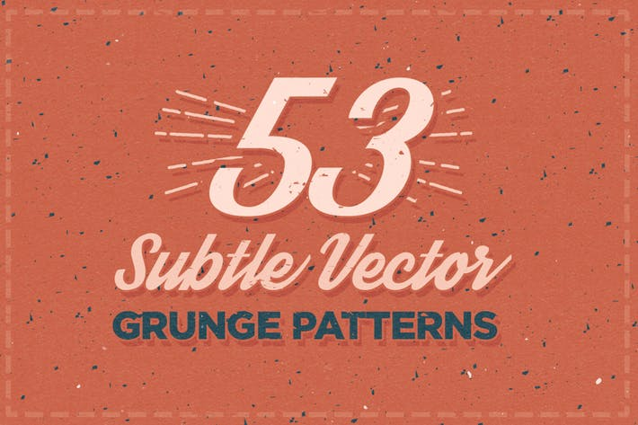 Thumbnail for 53 Subtle Vector Grunge Patterns