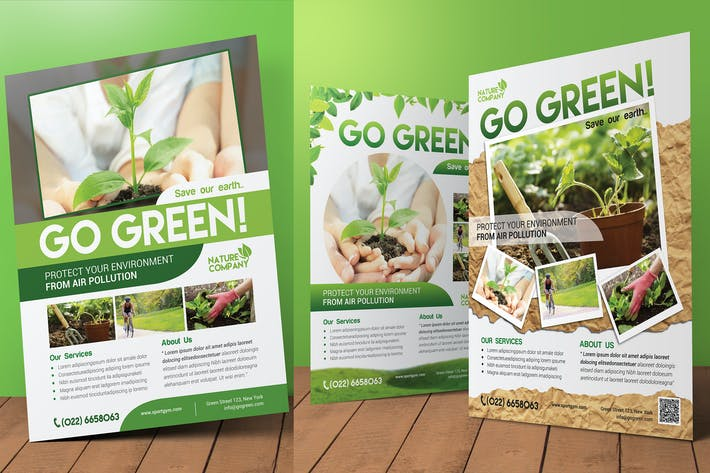 Thumbnail for Go Green Flyer / Magazine Ad