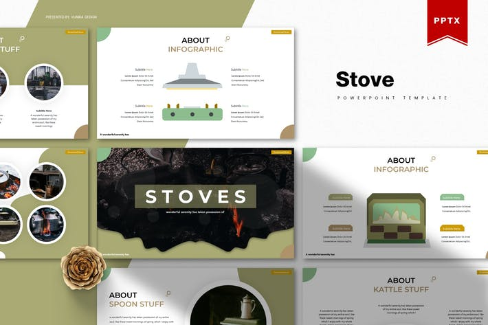 Thumbnail for Stove | Powerpoint Template