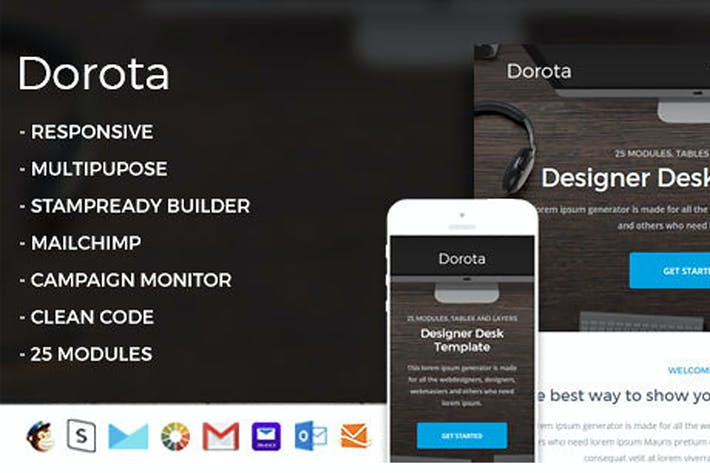 Thumbnail for Dorota-Responsive Email Template