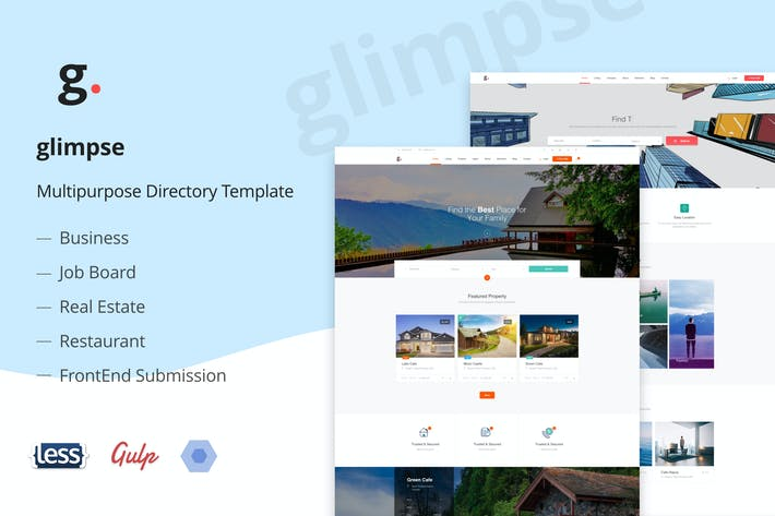 Thumbnail for Glimpse Multipurpose Directory Template