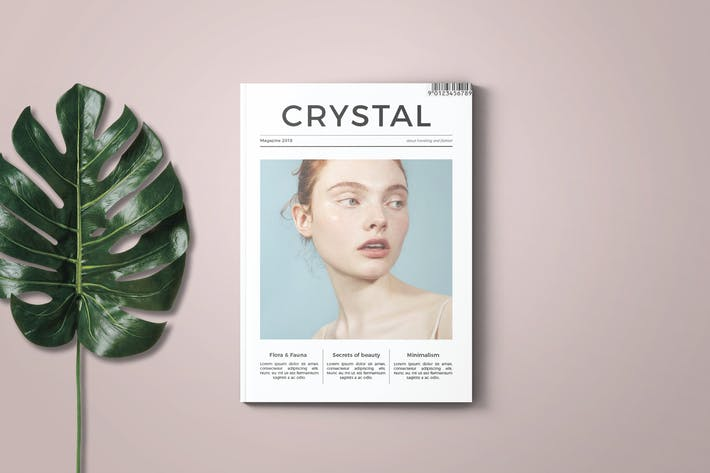 Cover Image For Crystal Magazine Template