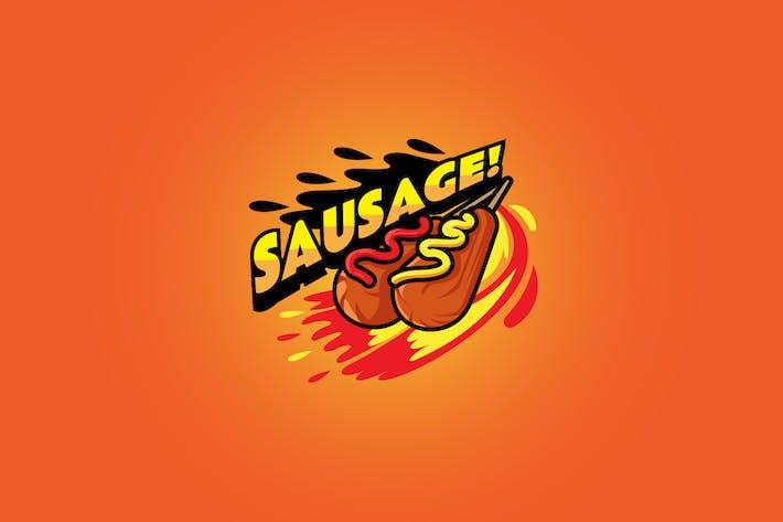 Sausage - Mascot Logo