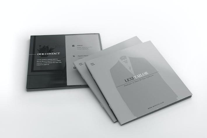 Thumbnail for Custom Fashion Tailor Square Brochure Template