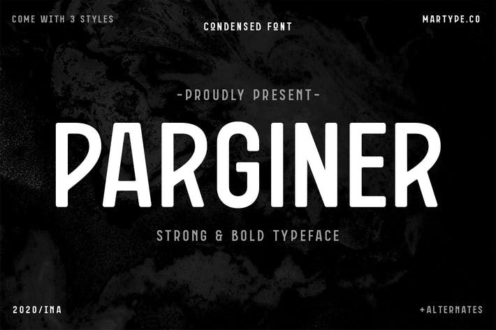 Thumbnail for Parginer Condensed Sans