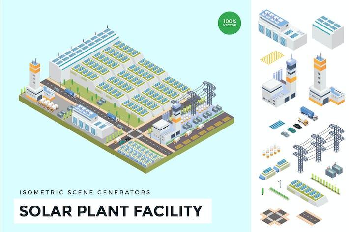 Thumbnail for Isometric Solar Plant Facility Scene Creator
