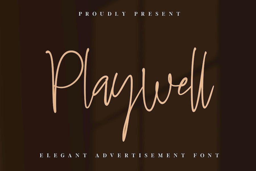 Police de signature Playwell Business