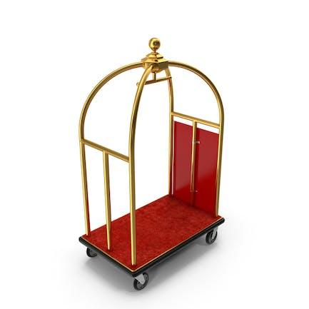 Carrito de equipaje Gold Luxury Hotel