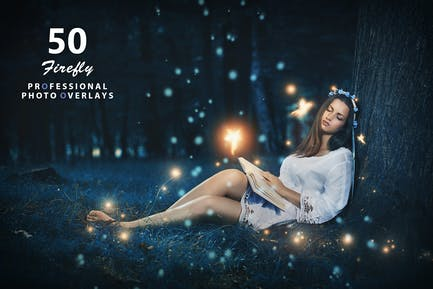 50 Firefly Photo Overlays