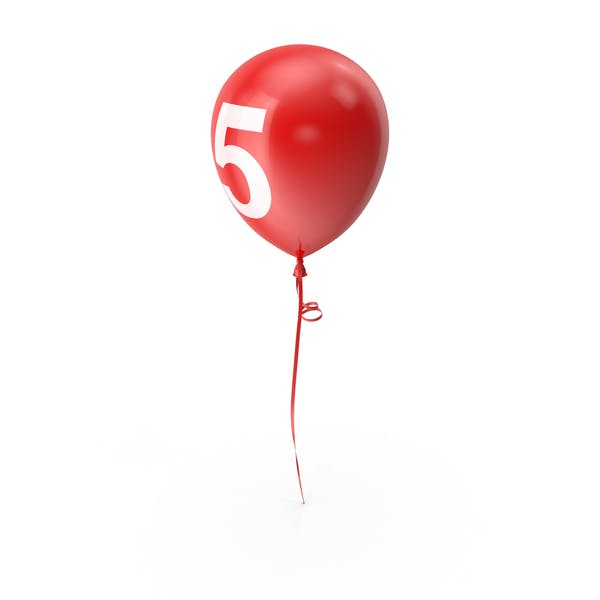Number 5 Balloon