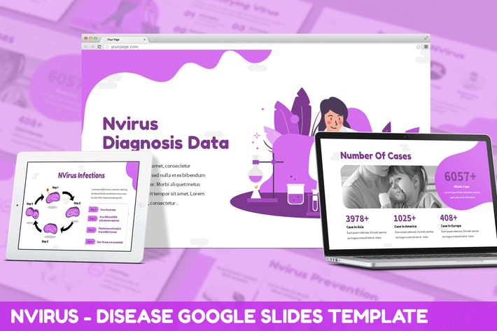 Thumbnail for NVirus - Disease Google Slides Template