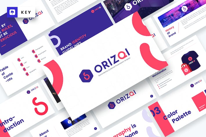 Thumbnail for Orizqi Brand Identity Guidelines Keynote Template