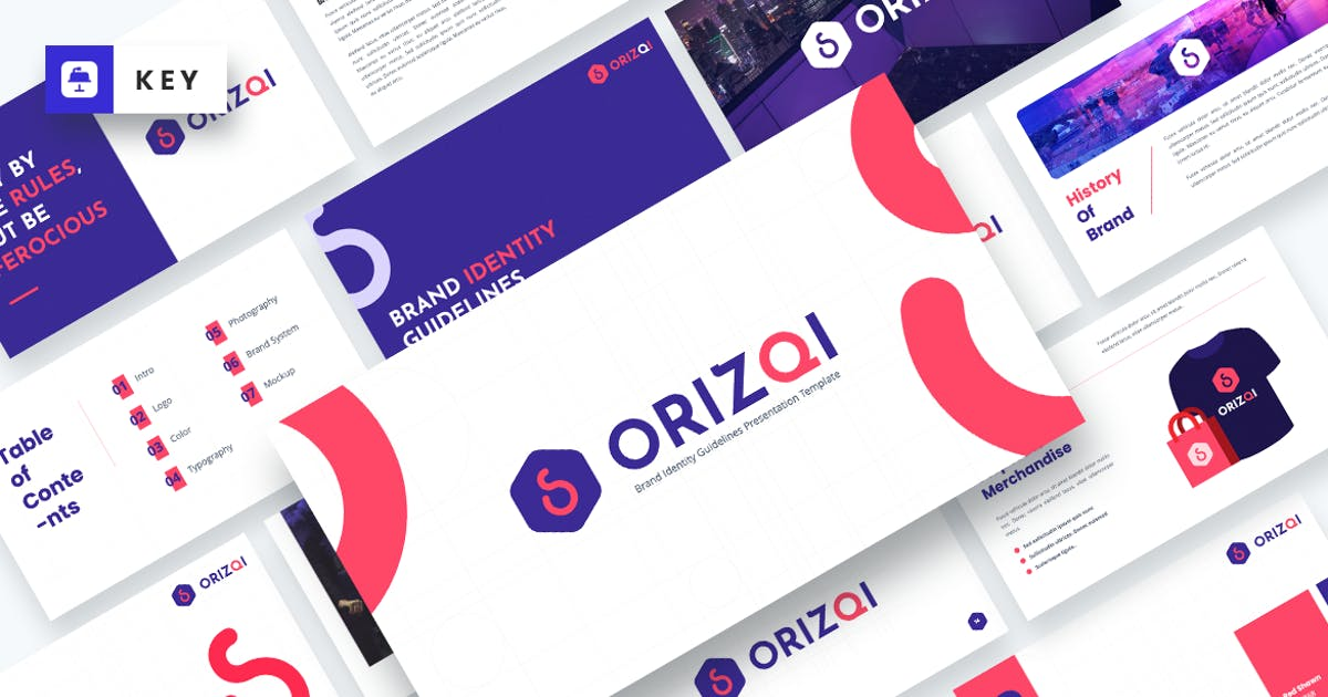 Download Orizqi Brand Identity Guidelines Keynote Template by MasdikaStudio