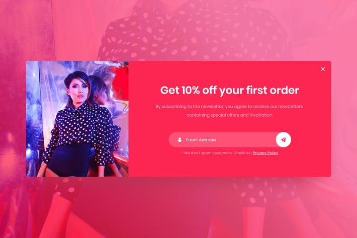 Thumbnail for eCommerce Popup - Adobe XD