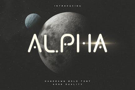 Alpha - Caractères d'affichage futuriste