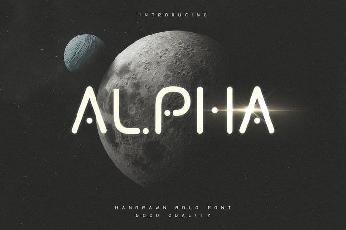 Alpha - Futuristic Display Typeface