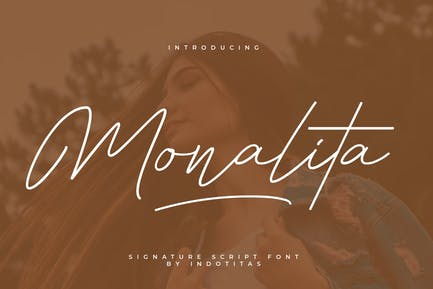Monalita Signature Font