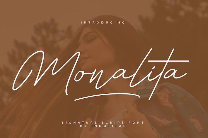 Thumbnail for Monalita Signature Font