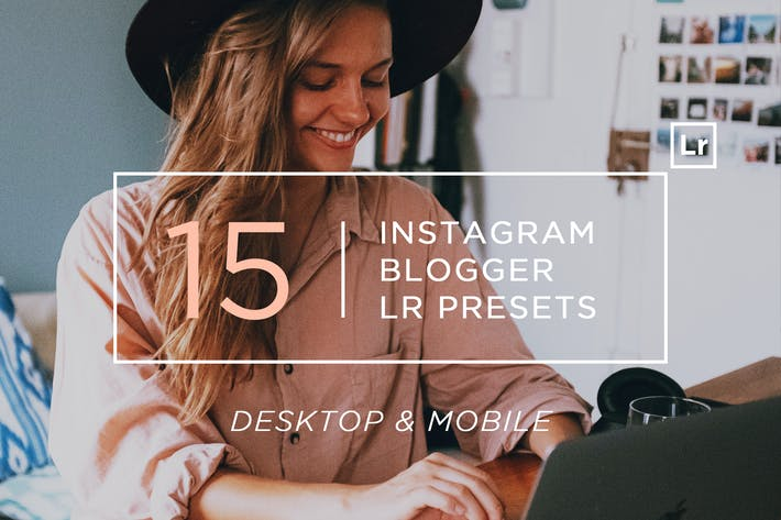 Thumbnail for 15 Instagram Blogger Lightroom Presets + Mobile