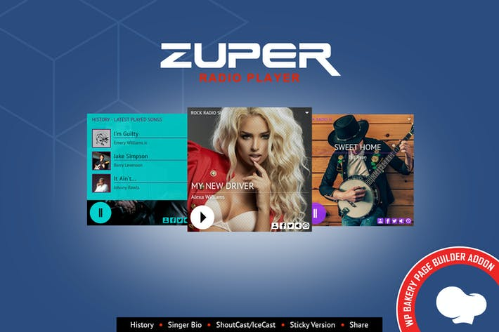 Thumbnail for Zuper - Radio Player for WPBakery Page Builder